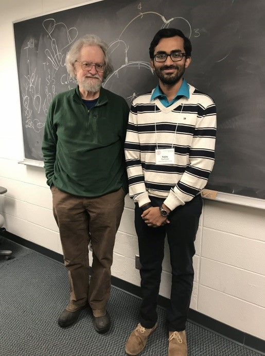 Sujoy with Professor Allen Hatcher