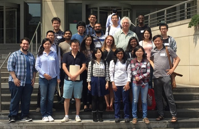 Mathematics faculty and graduate students at GW SIAM Chapter meeting