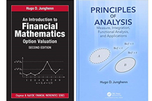 "Book Covers of ""Financial Mathematics"" and ""Principles of Analysis"""