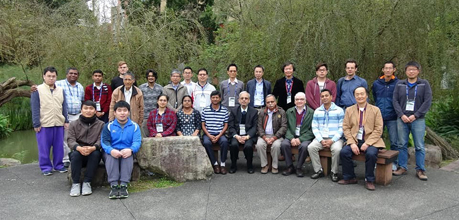 Group photo including Professor Murli M. Gupta at the 2018 International Conference on Applied Analysis and Mathematical Modeling