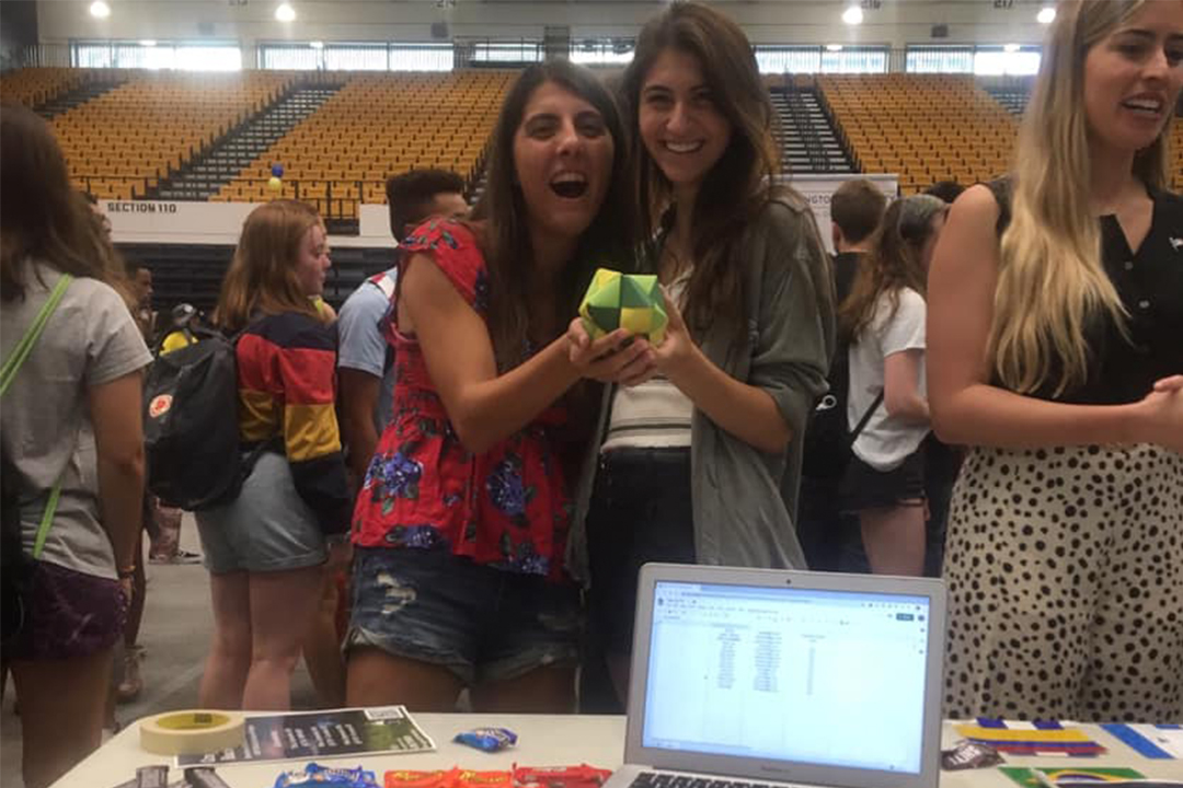 GW Math & Stat Association co-presidents at the student org fair