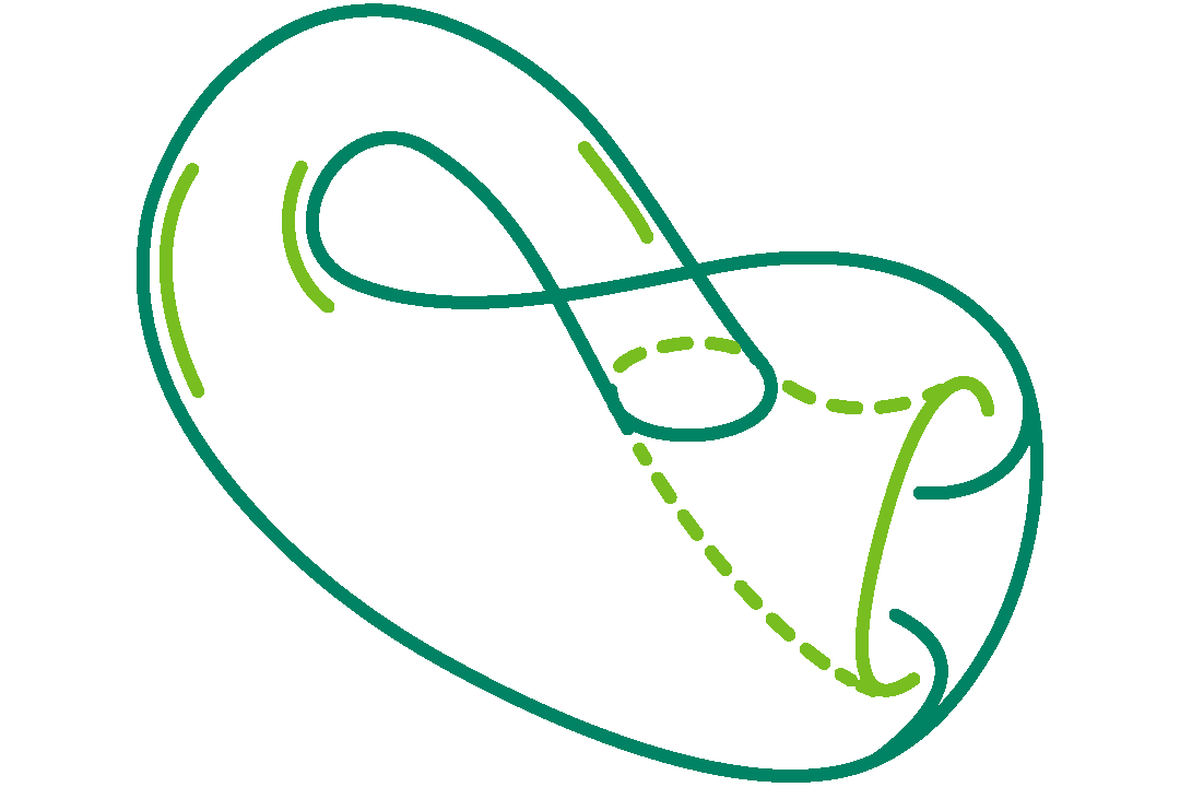 icon of a klein bottle