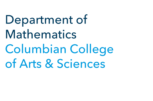 Department of Mathematics Columbian College of Arts & Sciences